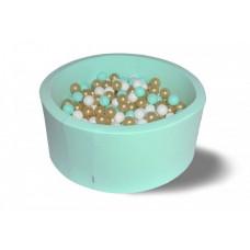 Hotenok Сухой бассейн Золото с минтолом 40 см с комплектом шаров 200 шт.