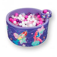 Hotenok Сухой игровой бассейн Barbie Русалки и Морские глубины 40 см с комплектом шаров 200 шт.