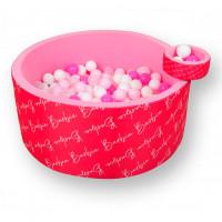 Hotenok Сухой игровой бассейн Barbie Стильные игры 40 см с комплектом шаров 200 шт.