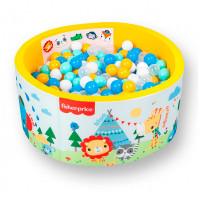 Hotenok Сухой игровой бассейн Fisher Price Учим цвета с друзьями на отдыхе 40 см с комплектом шаров 200 шт.