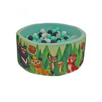 Hotenok Сухой игровой бассейн Лео и Тиг 40 см с комплектом шаров 200 шт.