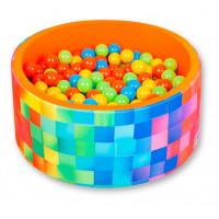 Hotenok Сухой игровой бассейн Неоновый заряд 40 см с комплектом шаров 200 шт.