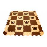 Игровой коврик Экопромторг Мягкий пол универсальный Панда 36 деталей 33x33 см