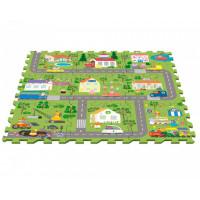 Игровой коврик Свинка Пеппа (Peppa Pig) Пазл Город Пеппы (9 сегментов)