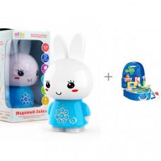 Интерактивная игрушка Alilo Медовый зайка G6+ с функцией Bluetooth и игрушки в чемодане Bondibon Доктор