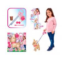Интерактивная игрушка Chi-Chi Love Собачка с поводком для прогулки 29 см