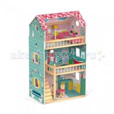 Janod Домик кукольный Happy Day с мебелью