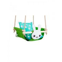 Качели Hotenok подвесные с подушками Заяц в траве