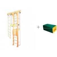 Kampfer Шведская стенка Wooden ladder Maxi Wall высота 3 м и мат №7 (200х100х10) складной Kampfer
