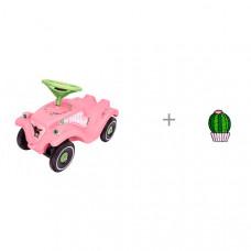 Каталка BIG Bobby Car Classic Розовые цветы и значок Кактус в кашпо Kawaii Factory