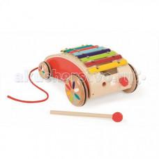 Каталка-игрушка Janod на веревочке Ксилофон