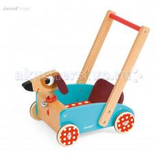 Каталка-игрушка Janod тележка Собачка