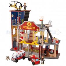 KidKraft Игрушечный Набор Пожарно-Спасательная станция Делюкс