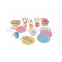 KidKraft Кухонный игровой набор посуды Пастель