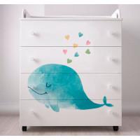 Комод Forest Cute Whale пеленальный