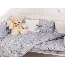 Комплект в кроватку AmaroBaby Exclusive Soft Collection 101 Барашек (18 предметов)