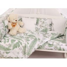 Комплект в кроватку AmaroBaby Exclusive Soft Collection Папоротники (18 предметов)
