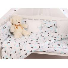 Комплект в кроватку AmaroBaby Exclusive Soft Collection Треугольники (18 предметов)