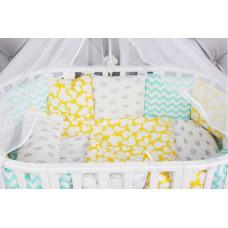 Комплект в кроватку AmaroBaby Happy Baby (19 предметов)