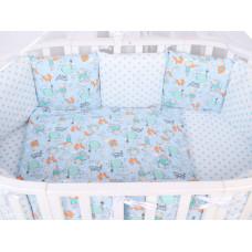 Комплект в кроватку AmaroBaby Маленький принц (15 предметов)