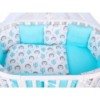 Комплект в кроватку AmaroBaby Premium Ежики (18 предметов)