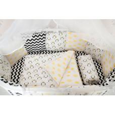 Комплект в кроватку AmaroBaby Premium Пингвины (19 предметов)