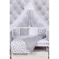 Комплект в кроватку AmaroBaby Silver (15 предметов)