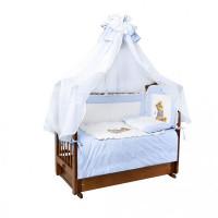 Комплект в кроватку Ангелочки с аппликацией (7 предметов)