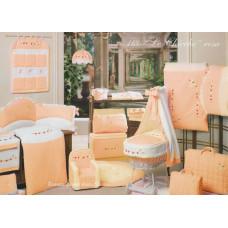 Комплект в кроватку BabyPiu Le Chicche - мягкий бортик, одеяло, наволочка
