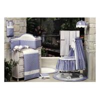 Комплект в кроватку BabyPiu Нежность - комплект: мягкий бортик, одеяло, наволочка