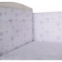 Комплект в кроватку BamBola Бортик и простыня на резинке Зайчики