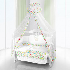 Комплект в кроватку Beatrice Bambini Unico Flower Campo 125х65 (6 предметов)