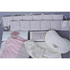 Комплект в кроватку Chepe Французский прованс (6 предметов)