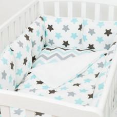 Комплект в кроватку Fluffymoon Blue Sky (4 предмета)