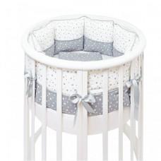 Комплект в кроватку Fluffymoon Little Star в круглую подушки (5 предметов)