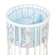 Комплект в кроватку Fluffymoon Lovely Baby в круглую бортики-вафли (7 предметов)