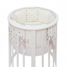 Комплект в кроватку Fluffymoon Lovely Baby в круглую подушки (5 предметов)