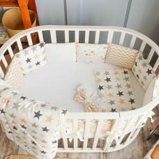 Комплект в кроватку Fluffymoon Mix для круглой и овальной (5 предметов)
