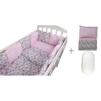 Комплект в кроватку Forest для овальной кроватки Candy (18 предметов) с постельным бельем и наматрасником