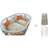 Комплект в кроватку Forest для овальной кроватки Friends (18 предметов) с постельным бельем и наматрасником