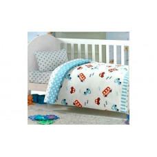 Комплект в кроватку Kidboo Ups Pups Машинка (4 предмета)