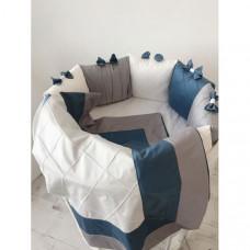 Комплект в кроватку Krisfi Космос (15 предметов)