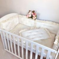 Комплект в кроватку Krisfi Ваниль (10 предметов)