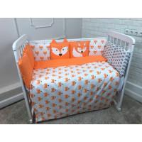 Комплект в кроватку LuBaby Лисенок (6 предметов)