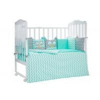 Комплект в кроватку LuBaby Спящие совята (6 предметов)