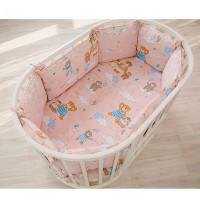 Комплект в кроватку Pituso универсальный Медведи подушки (4 предмета)