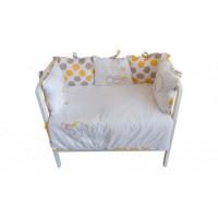 Комплект в кроватку Polini Disney baby Медвежонок Винни и его друзья (5 предметов)