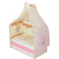 Комплект в кроватку Селена (Сдобина) Принцесса (7 предметов)