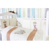 Комплект в кроватку Топотушки Зайка-Акварель (6 предметов)