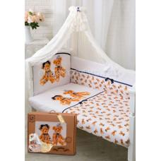 Комплект в кроватку Золотой Гусь Королевские мишки (7 предметов)